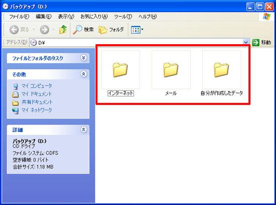 DVD-R内の確認