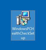 デスクトップ画面にあるPC 正常性チェック アプリ(Windows 11)